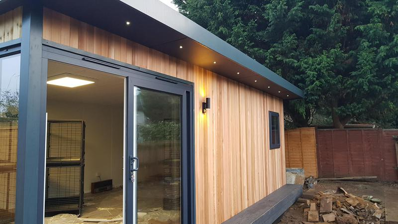 Image 9 - Recent garden office electrical installation