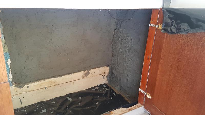 Image 23 - Applying Damp proofing mortar