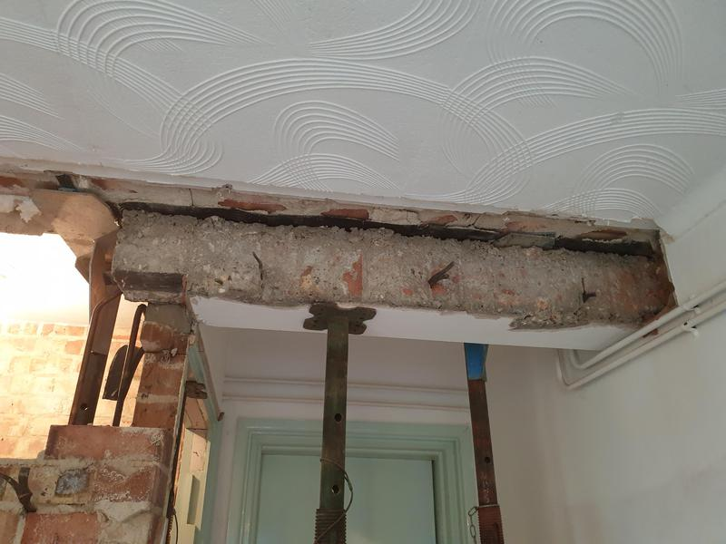 Image 198 - Heavy lintel needed to be removed