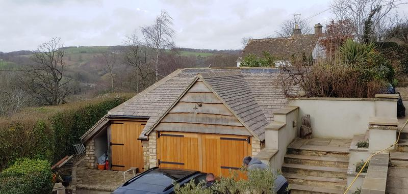 Image 13 - stone built double garage including storage & new roof.