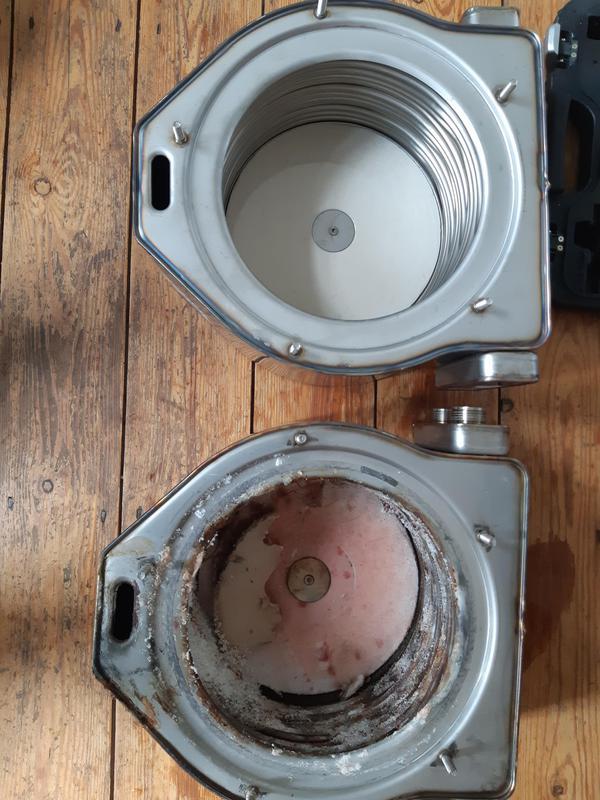 Image 7 - Damaged VS New Heat exchanger