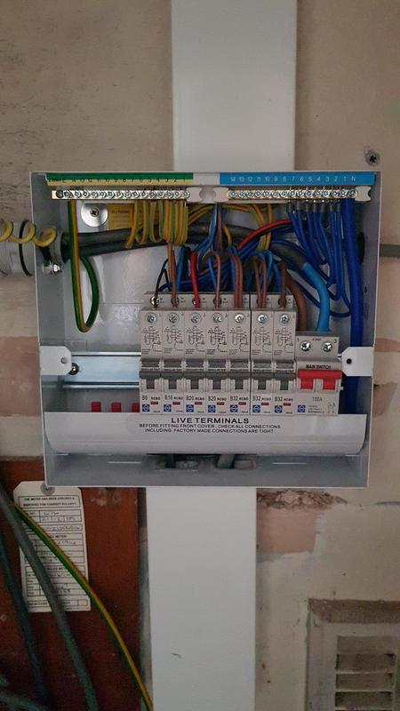 Image 12 - This Installation was unsafe and had obvious additions over the years by DIYers. This is the after picture all tested and certified with RCD protection throughout