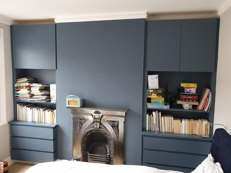 Image 8 - Chimney Breast and two MDF units after it's been painted in Chiswick area