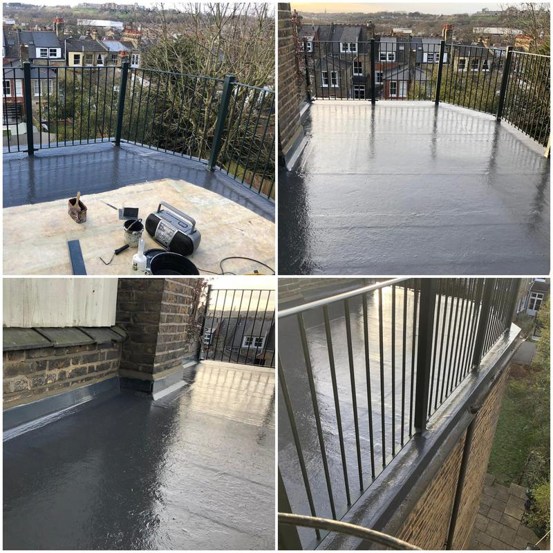 Image 1 - New GRP Roof Terrace Guildford With A 10 Year Insurance Backed Guarantee. Flat Roofers Guildford, Guildford Flat Roofing.