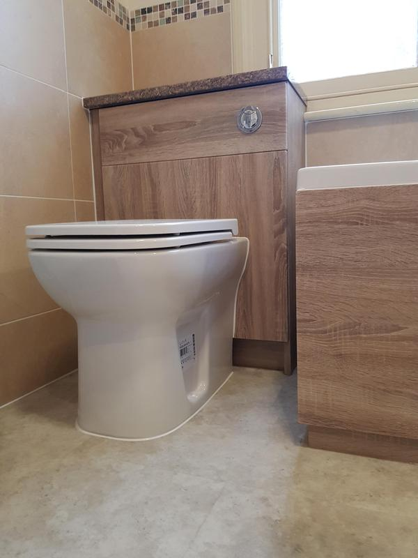 Image 8 - New toilet unit and matching bath panel