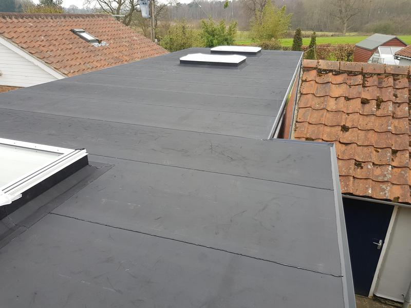 Image 2 - Resitrix installation to new extension roof. 50 year service life on materials. No more leaks!