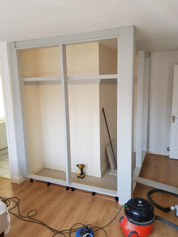 Image 23 - Framework of the new wardrobes just about level and complete. Just doors and internals to sort.