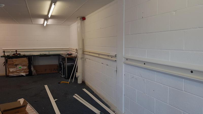 Image 15 - Office power Installation with Dado trunking. Great for a developing office making future changes easy