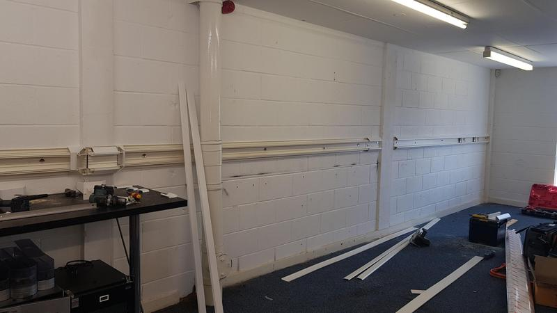 Image 16 - Office power Installation with Dado trunking. Great for a developing office making future changes easy