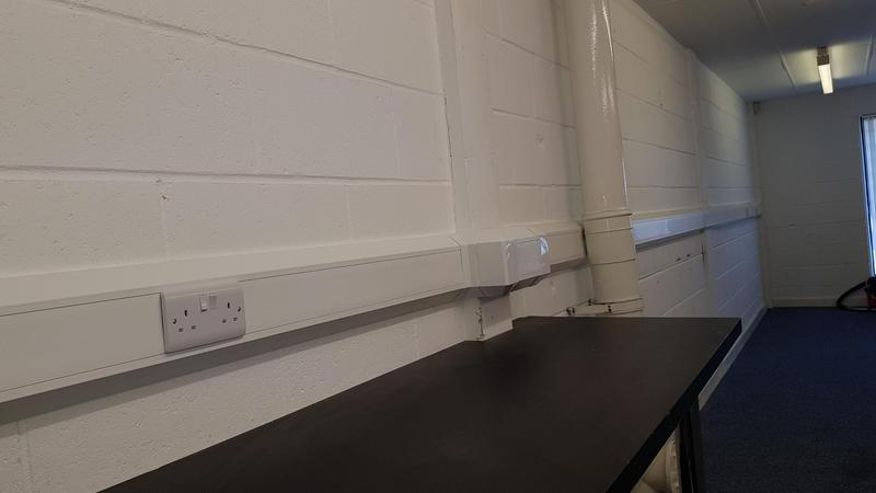 Image 19 - Office power Installation with Dado trunking. Great for a developing office making future changes easy
