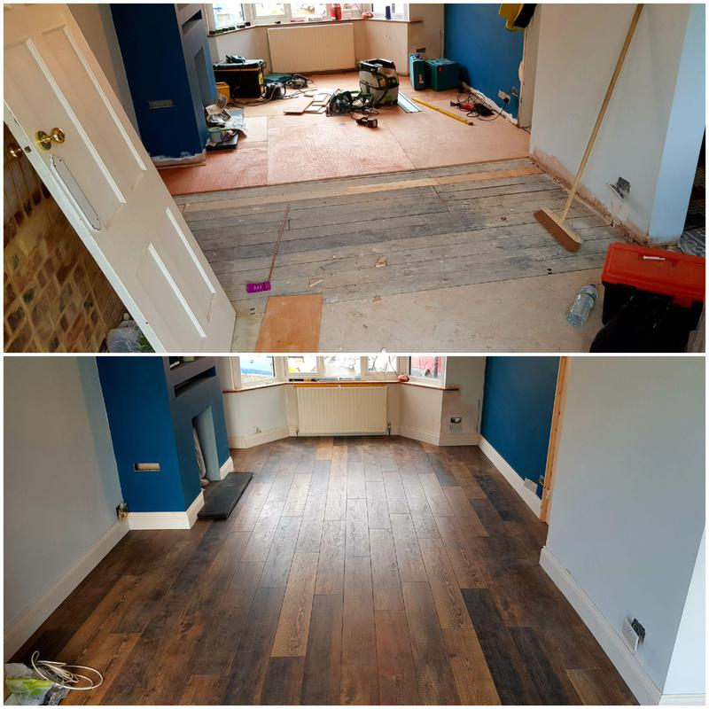 Image 44 - Laminate and skirtings supplied and fitted