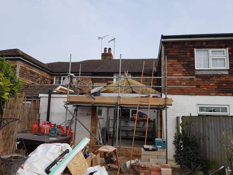 Image 3 - Cottage extension with structural opening from existing kitchen into new build Sellindge