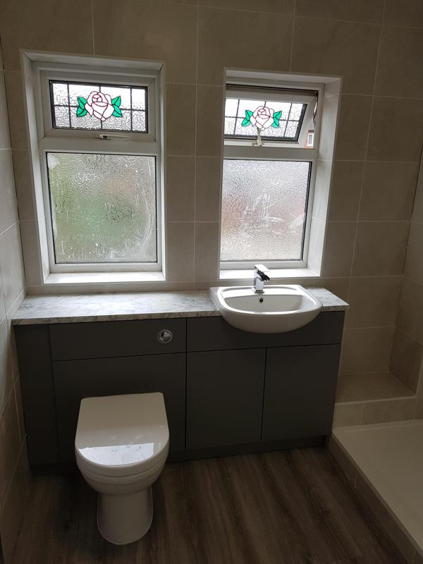Image 3 - New vanity units and worktop fitted