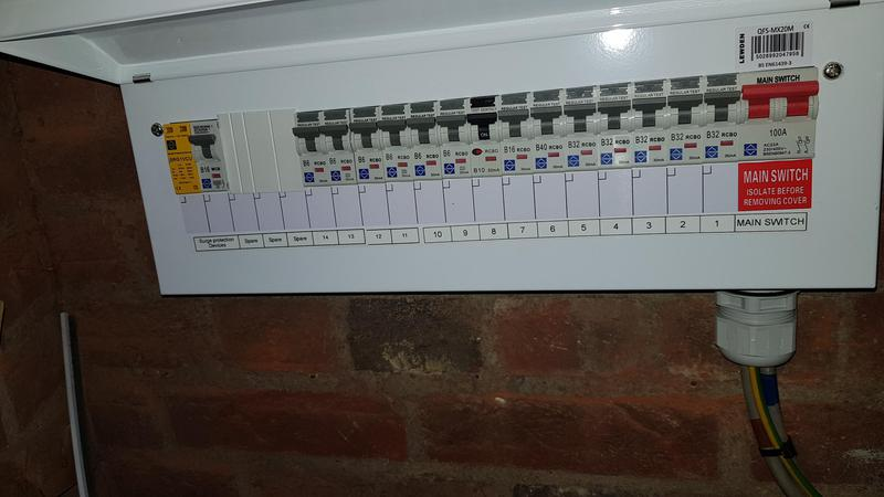 Image 5 - Commercial customer new consumer unit with added surge protection