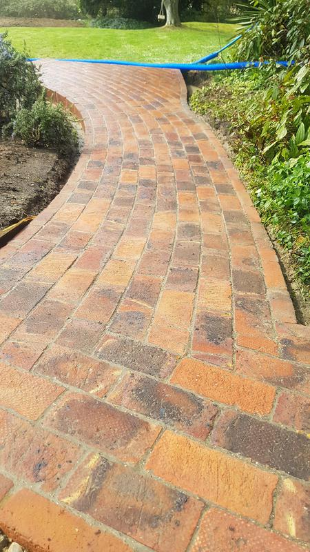 Image 24 - New brick path, laid to 10mm joints and grouted.