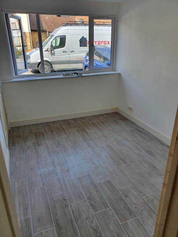 Image 20 - Garage conversion in Stevenage to create a down stairs bedroom with an en suite