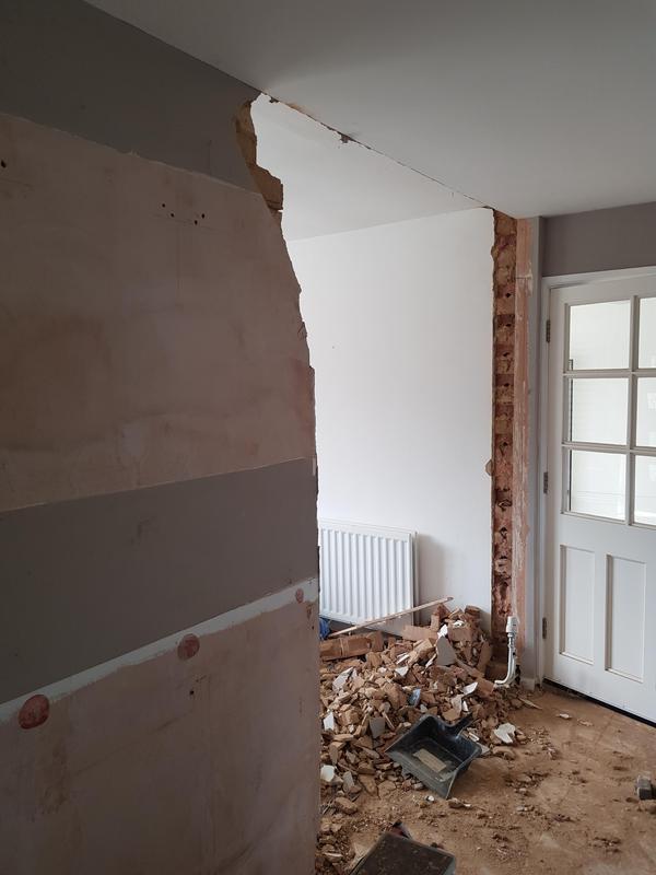 Image 37 - Wall down