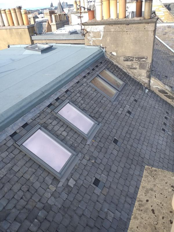 Image 4 - Slating with vents & warm flat roof installed