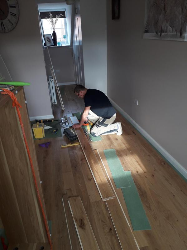 Image 97 - Flooring and decorating work in loft area
