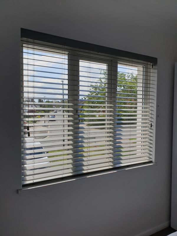 Image 1 - Grey Wooden Venetians fitted for a customer in Sidcup.