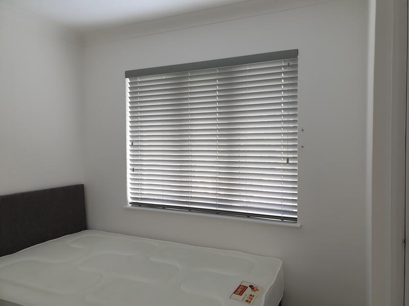 Image 2 - Grey Wooden Venetians fitted for a customer in Sidcup.