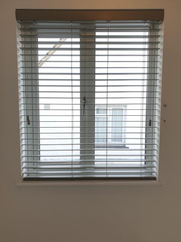 Image 3 - Grey Wooden Venetians fitted for a customer in Sidcup.