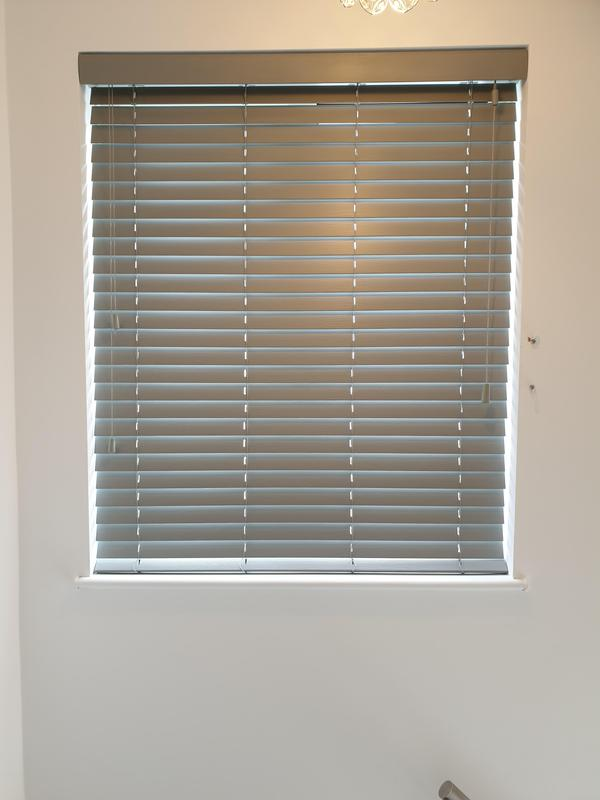 Image 4 - Grey Wooden Venetians fitted for a customer in Sidcup.