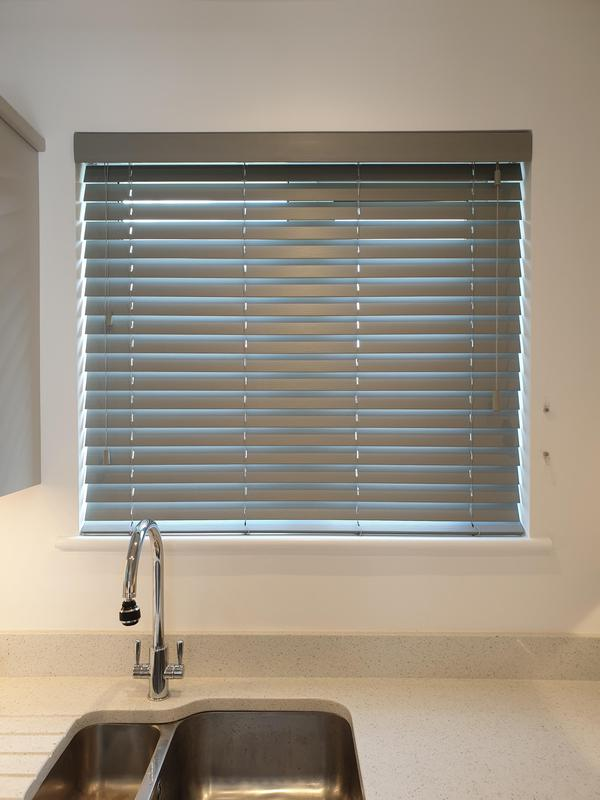 Image 5 - Grey Wooden Venetians fitted for a customer in Sidcup.