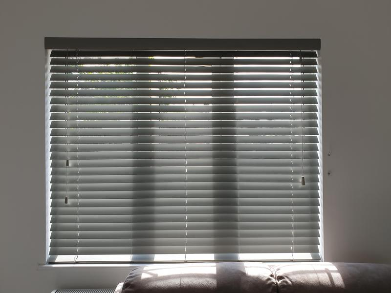 Image 6 - Grey Wooden Venetians fitted for a customer in Sidcup.