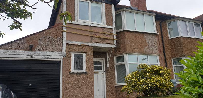 Image 1 - Property we were asked to quote at as pebble dash was in a bad condition.