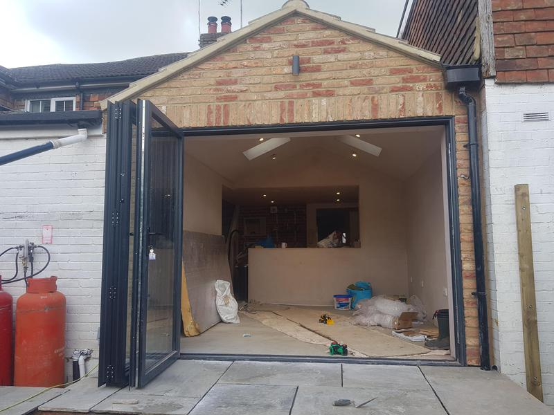 Image 4 - Cottage extension with structural opening from existing kitchen into new build Sellindge