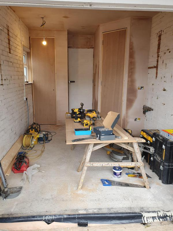 Image 28 - Garage conversion into a gym in St Albans