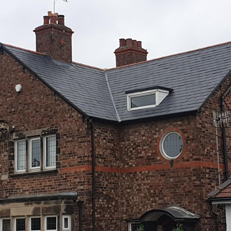 Image 9 - New roof completed in slate.