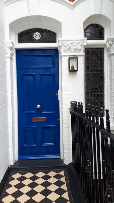 Image 49 - Front door of the same house below that we had painted the exterior of. Client picked the colour and we carried out the repair and painting of it.