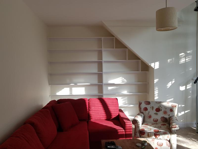 Image 3 - Unusual bespoke shelving fitted and painted.