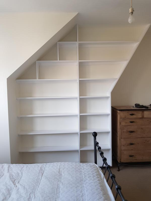 Image 4 - Unusual bespoke shelving fitted and painted.