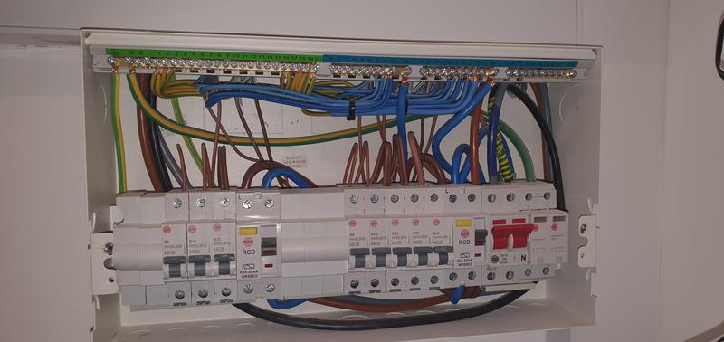 Image 62 - Installation of Consumer Unit. New 18th edition type 2 SPD'S installed