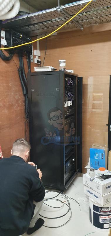 Image 13 - Av Rack installation in Domestic installation