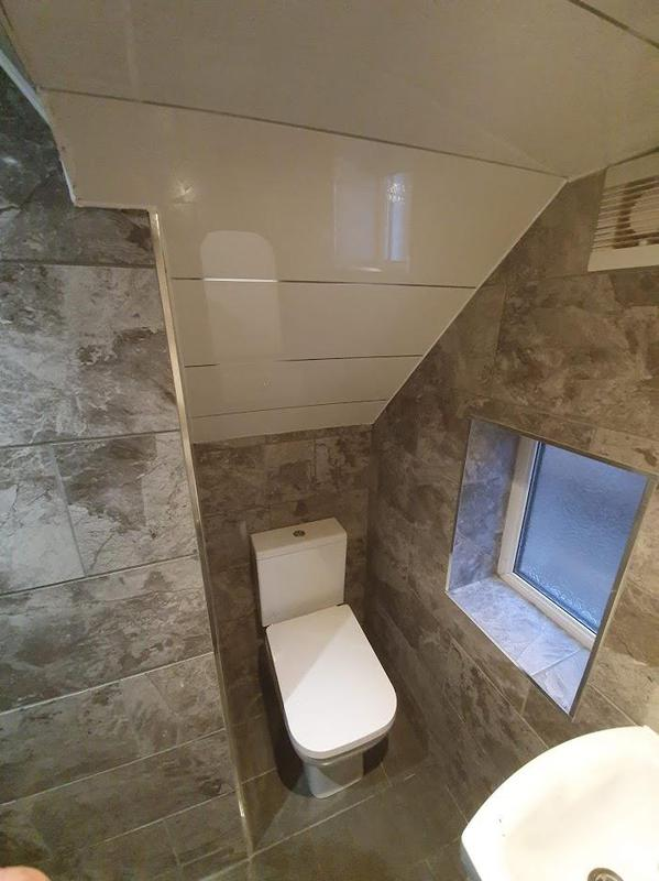 Image 232 - Creating downstairs toilet - Prestwich - Complete
