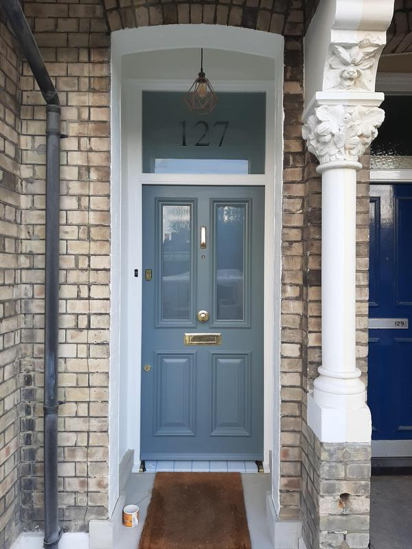 Image 41 - Front door making and full installation with all decorations.New stone slab installation