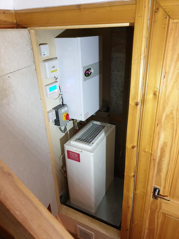 Image 2 - A new electric warm air unit fitted to replace an old creda warm air unit. This system still uses the original duct within the property