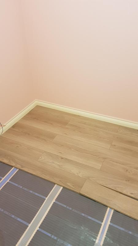 Image 24 - Infrared underfloor heating installation