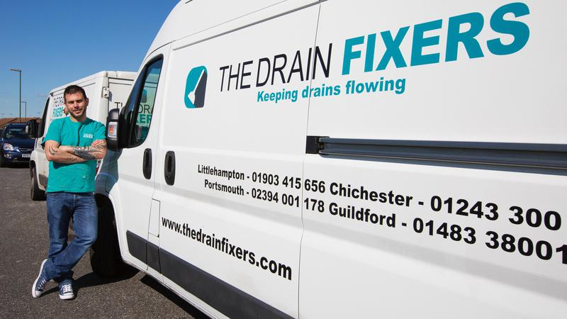 Image 7 - One of our drain fixer vans