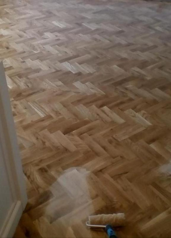 Image 25 - parquet install/sanding and oiling