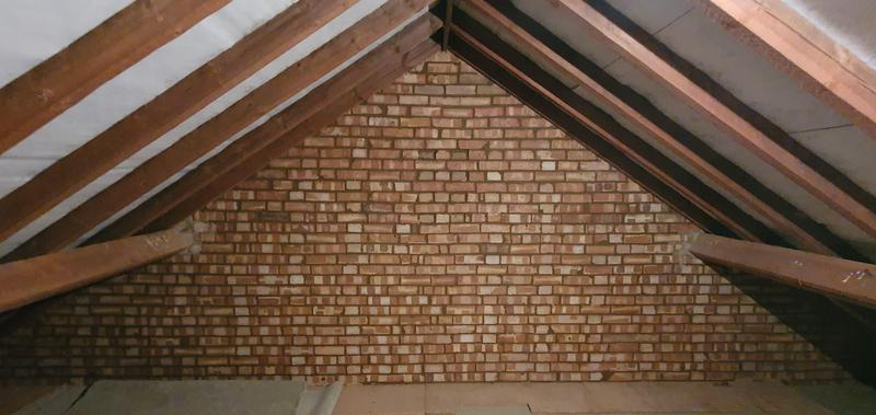 Image 25 - 2 gable end walls in loft rake out and repainted. Rake out done using mortar sorted and vacuum system ( no dust )