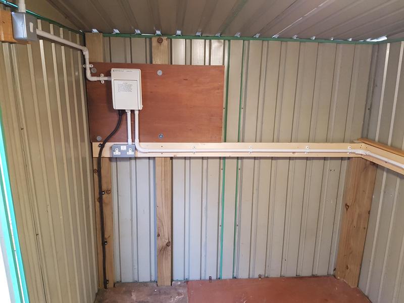 Image 17 - Shed Supply Installation Light & £ Sockets