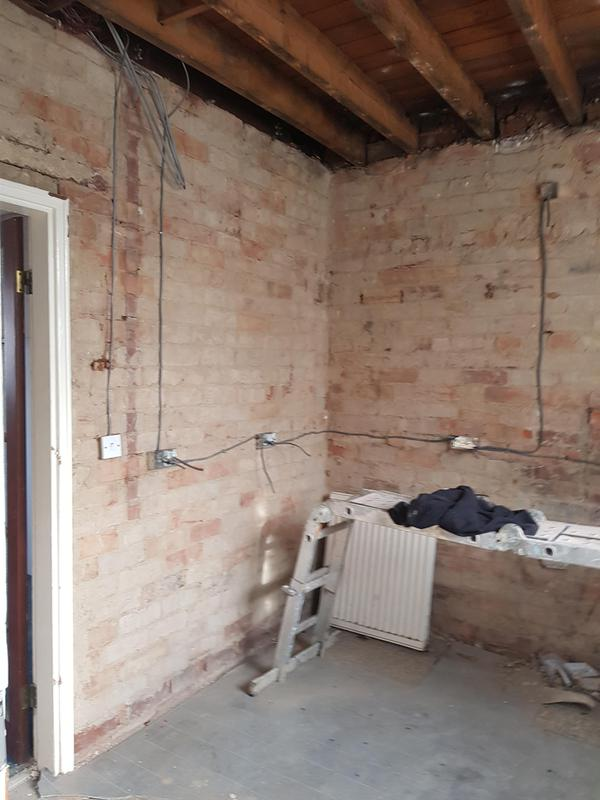 Image 4 - Before we reboard on a kitchen after removing toilet and old coal house