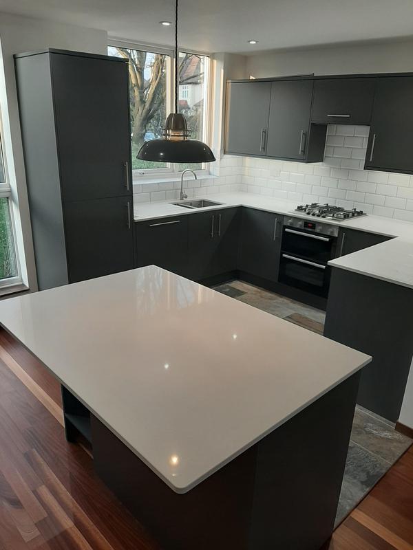 Image 8 - Open plan kitchen creating (Howdanse kitchen with quartz worktop)