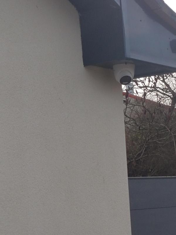 Image 17 - Hikvision super HD turret camera installed with hidden cables