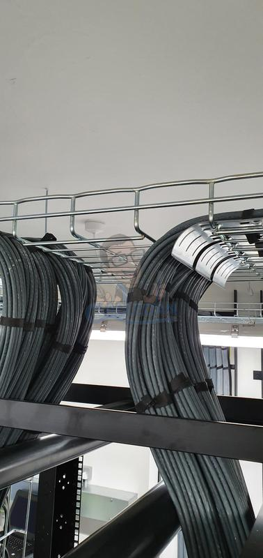 Image 21 - Neatly routed Data cables on wire tray